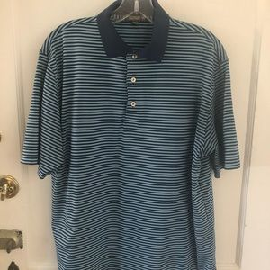 Peter Millar striped summer comfort polo